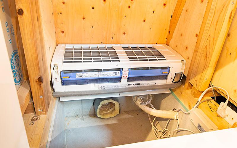 床下エアコン設置例